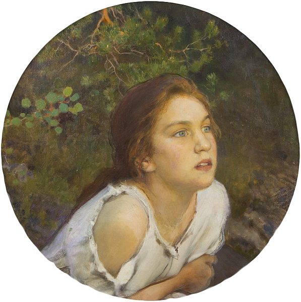 Eero_Järnefelt_-_Forest_Girl_(1894)